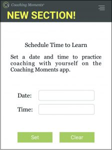 Coaching moments app