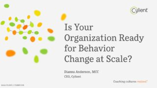 Is your organization ready for behavior change at scale? Title